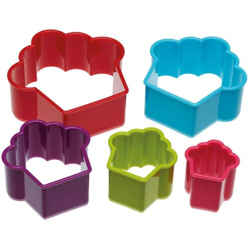 Colourworks Set of 5 Cupcake Cookie Cutters