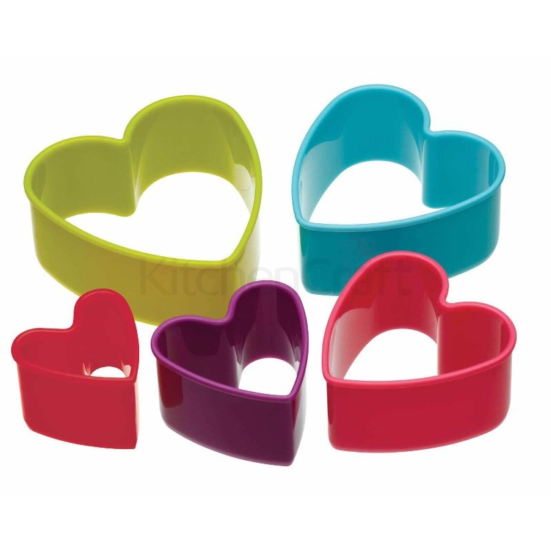 Colourworks Set of 6 Heart Cookie Cutters