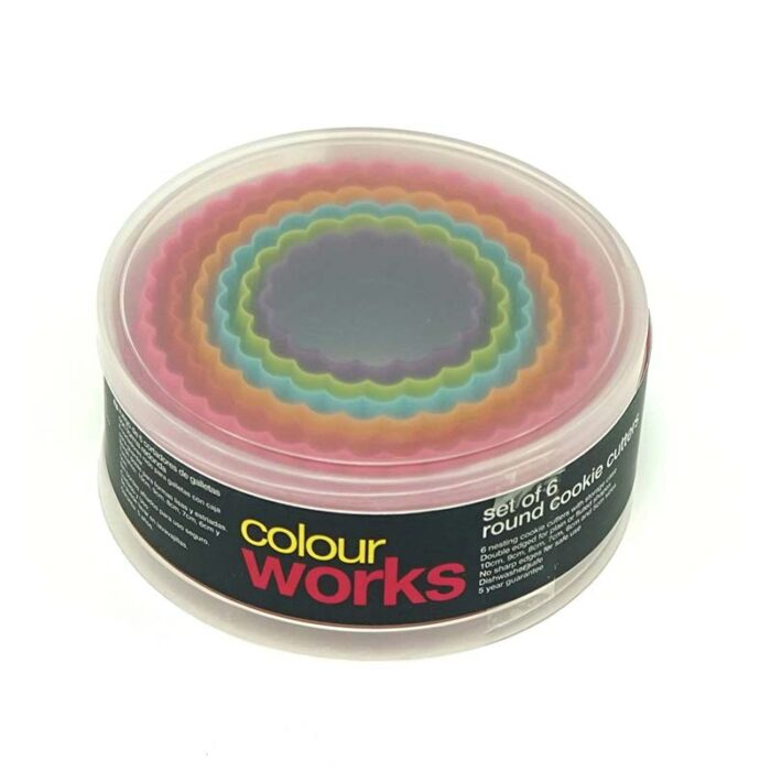 Colourworks Set of 6 Round Cookie Cutters