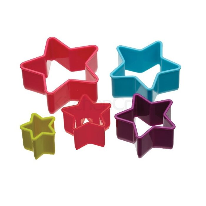 Colourworks Set of 6 Star Cookie Cutters