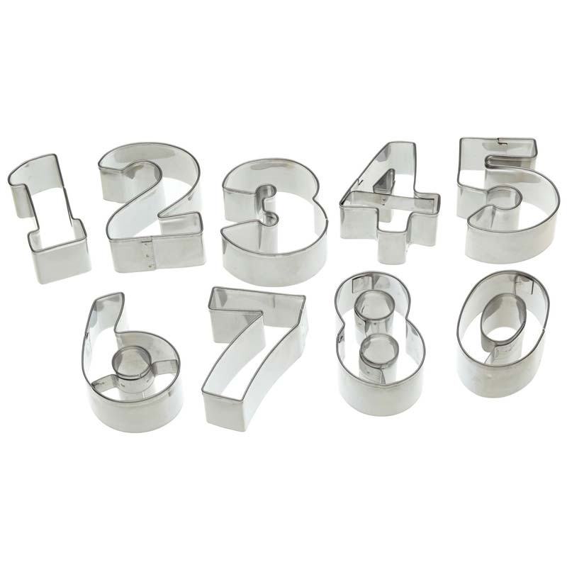 Cookie Cutter Number Set