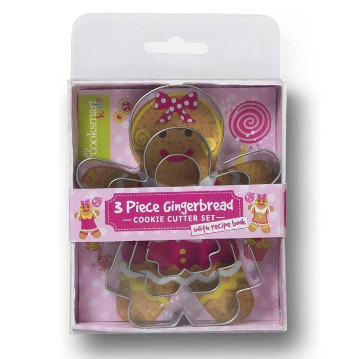 Cooksmart Kids 3-Piece Gingerbread Girl Cookie Cutter Set