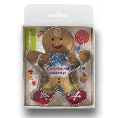 Cooksmart Kids 3-Piece Gingerbread Boy Cookie Cutter Set