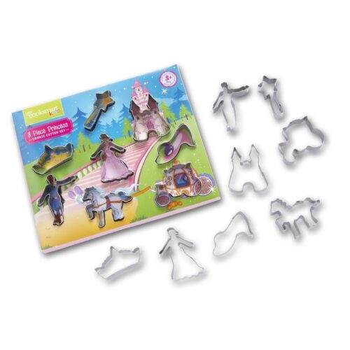 Cooksmart Kids 8-Piece Princess Cookie Cutter Set