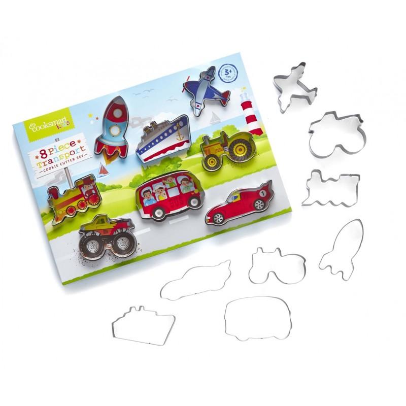 Cooksmart Kids 8-Piece Transport Cookie Cutter Set