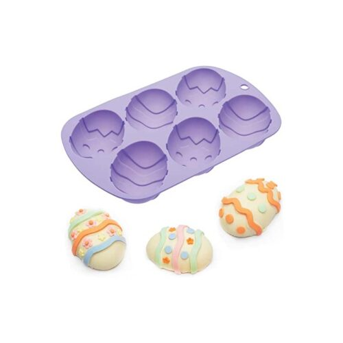Hoppity Does It Easter Egg Silicone Baking Pan