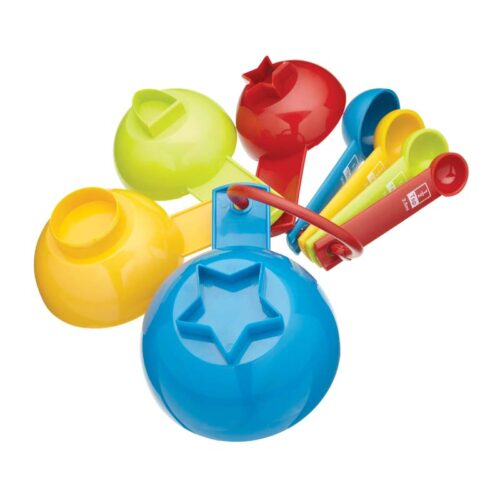 Let's Make 8 Piece Measuring Cup and Spoon Set - Rainbow