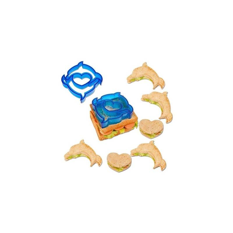 Let's Make Dolphin / Heart Shaped Sandwich Cutter