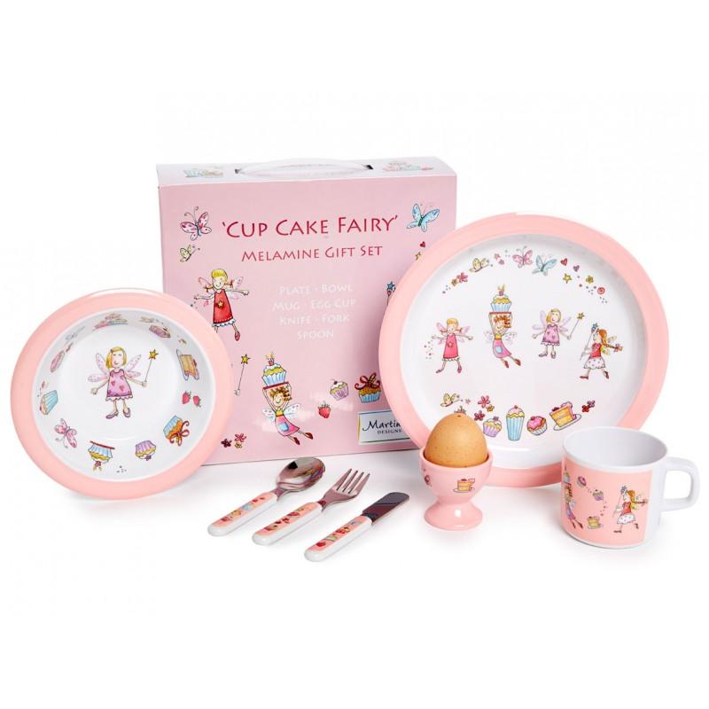Martin Gulliver Cup Cake Fairy Melamine Dinner Set
