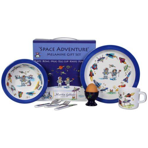 Martin Gulliver Space Adventure Melamine Dinner Set