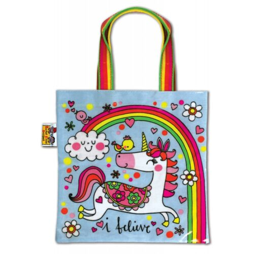 Unicorn and Rainbow Mini Tote Bag